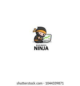 Ninja logo, ninja business, ninja laptop, ninja computer
