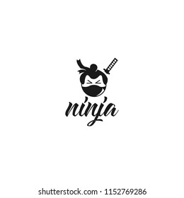 ninja  Logo Design Illustration