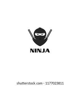 ninja logo designs on isolated white background