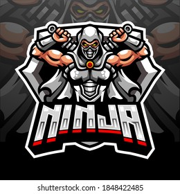 Ninja mascot.  esport logo design