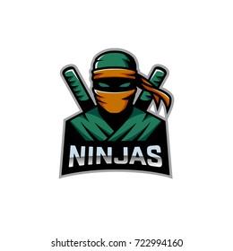 Ninja mascot logo vector