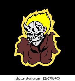 ninja samurai assasin logo characters