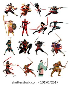 ninja and samurai collection characters