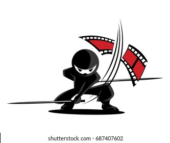 Ninja Samurai Warrior Fighter Character Cartoon Martial Art Weapon Film