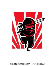 Ninja Shadow Logo Mascot