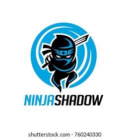 Ninja shadow logo template