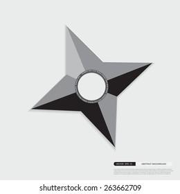Ninja Shuriken star weapon / origami star weapon
