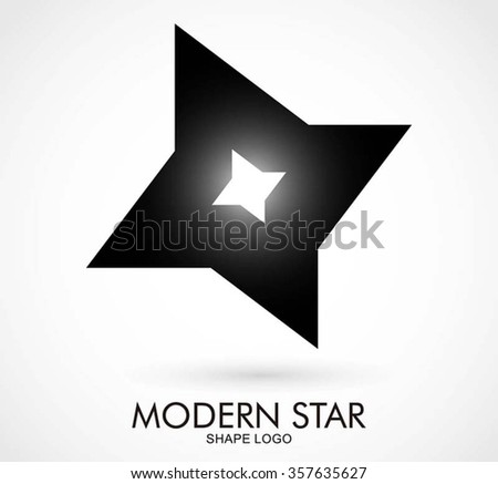 Ninja Star Of Steel Sharp Abstract Vector And Logo Design Or Template Armor Weapon Business Icon