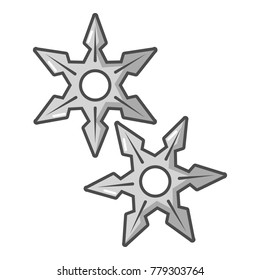 Ninja stars icon. Cartoon illustration of ninja stars vector icon for web