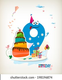 Ninth Birthday card.