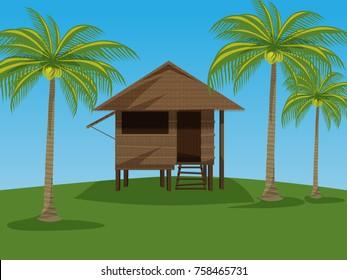 Nipa hut farm