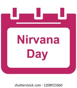 Nirvana day Special Event day Vector icon that can be easily modified or edit.