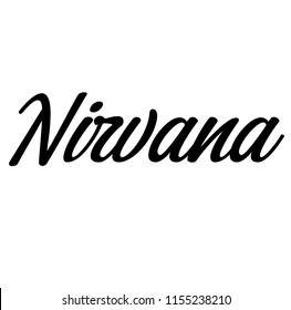 nirvana label on white