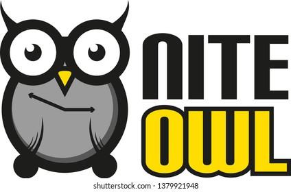 Nite Owl Vector Logo