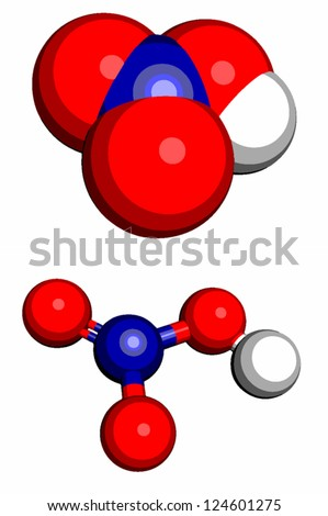 Nitric Acid Hno 3 Molecule Chemical Structure Stock Vector Royalty