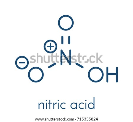 Nitric Acid Hno 3 Strong Mineral Acid Stock Vector Royalty Free