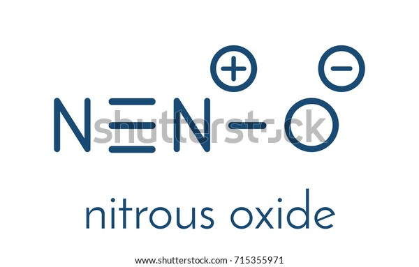 Nitrous Oxide Nos Laughing Gas N2o Stock Vector (Royalty