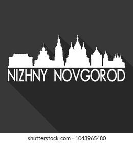 Nizhny Novogorod Russia Flat Icon Skyline Silhouette Design City Vector Art Famous Buildings