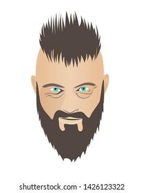 Nizhyn, Uktaine - June 5, 2019: Portrait of Ragnar Lothbrok isolated on white, hero of serial Vikings