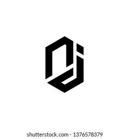 NJ JN Letter Initial Logo Design Template - Vector