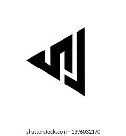 NJ Logo Letter Vector Illustration