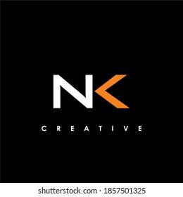 NK Letter Initial Logo Design Template Vector Illustration