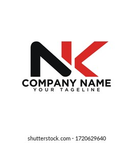 NK letter logo , NK vector logo designs. Nk logo , Nk letter logo design business template .
