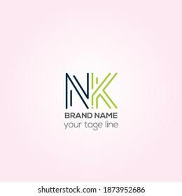 NK vector logo design, NK Creative logo design