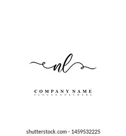 NL Initial beauty floral logo template