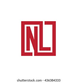 NL initial letters looping linked square logo red