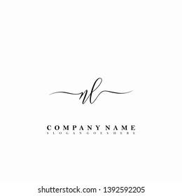 NL Initial luxury handwriting logo vector