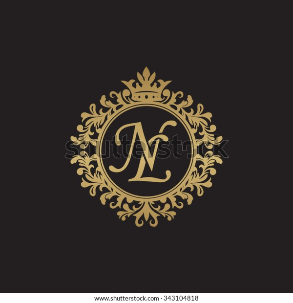 Image Vectorielle De Stock De Nl Initial Luxury Ornament Monogram Logo 343104818