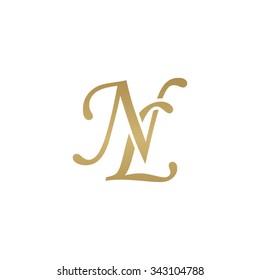 NL initial monogram logo