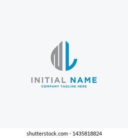 NL letters Initial / Monogram icons. - Vector inspiration logo design - Vector