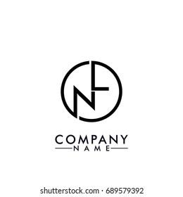 nl / ln logo black color