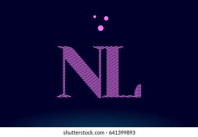 Ah H Alphabet Letter Logo Pink Stock Vector (Royalty Free) 641397877 ...