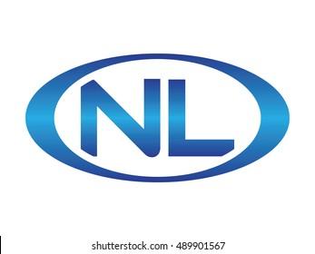 NL-letter abbreviations blue oval logo