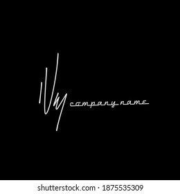 NM initial handwriting black background