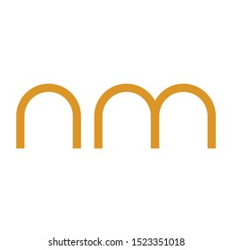 NM initial letter logo template vector icon design