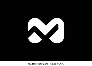 NM letter logo design on luxury background. MN monogram initials letter logo concept. NM icon design. MN elegant and Professional white color letter icon design on black background. M N NM MN