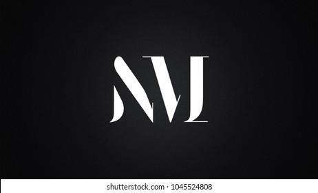 NM Letter Logo Design Template Vector