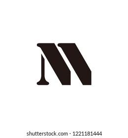 nm letter vector logo. nn letter vector logo