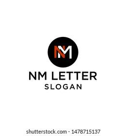 nm letter vector,nm logo.creative nm design