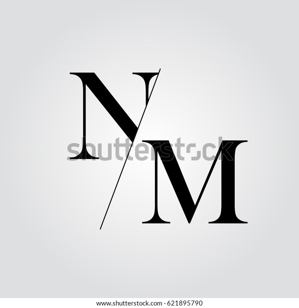 Nm Logo Stock Vector Royalty Free 621895790