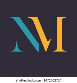 NM logo design. Company logo. Momnogram.