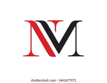 NM logo, NM letter logo design, Letter mark logo