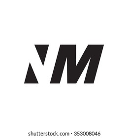 NM negative space letter logo