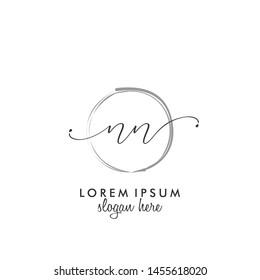 NN Initial beauty monogram logo vector