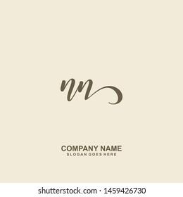 NN Initial handwriting logo vector