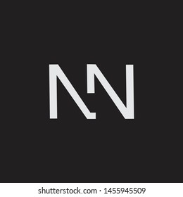 NN initial logo Capital Letters black background